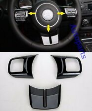 Black Steering Wheel Cover Frame trim molding For Jeep Wrangler JK 2011-2015