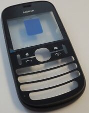 ORIGINALE Nokia Asha 200 COVER NERO DUAL SIM FRONT guscio superiore Housing NUOVO WOW