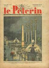 Place de la Concorde Obélisque Fontaine Porte Exposition Paris 1938 ILLUSTRATION