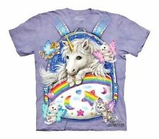 The Mountain Backpack Unicorn Magical Rainbow Fantasy Shirt Child M