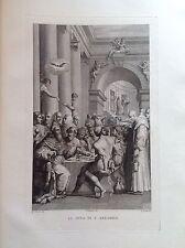 F. ROSASPINA LA CENA DI SAN GREGORIO Magno 1830 ACCADEMIA BOLOGNA