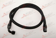 "24"" 90°10AN Nylon Braided Racing Performance Oil Fuel Coolant Line Hose Assembly"