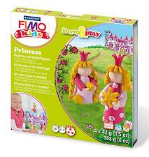 NUOVO Modulo di Fimo Kids & Play Set Principessa modellazione di gioielli artigianali art divertente