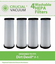 4 Dirt Devil F1 F-1 Washable Filter # 3-JC0280-000 2-JC0280-000 3JC0280000