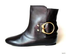 new $1075 ALEXANDER MCQUEEN black leather DOUBLE SCULL ankle boots 35 5 - SEXY