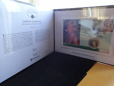 2007 SILVER PROOF COOK ISL'S $5 COLOURED COIN PNC FOLDER + COA DIANA 1/450