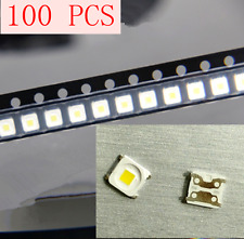 100pcs LED TV Backlight Lamp Beads Cold White 2828 3V 1.5W FOR Samsung 32〞-55〞