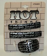 1 Packages Of Hot Things Decorative Clips Very Pretty Black W Silver Text