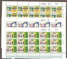 Israel 1988 Agricultural Achievements Full Sheets Scott 1004-1006 Bale 987-989