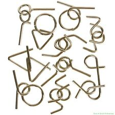 (100) Assorted Wire Metal Puzzles - IQ Brain Magic Party Game Trick ~ Wholesale
