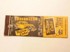 Vintage advertising matchbook cover for Yellow cabs , San Francisco