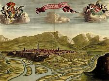 ART PRINT POSTER PAINTING MAP TOWN VIEW CONI MEDIEVAL MOUNTAIN SCENIC LFMP1141