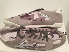 Bikkembergs Men's Chillout Fab Suede Camouflage Grey Trainers Size 45