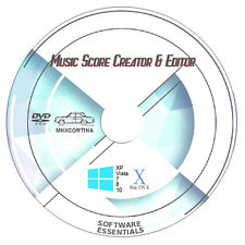 MUSIC SCORE CREATOR & EDITOR, NOTE NOTATION WRITER PRINTER SOFTWARE + GUIDEBOOK