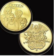 Queen Gold Coin (NEW) Queen Band includes Freddie Mercury LIMITED STOCK TO CLEAR