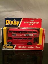 Vintage DINKY ROUTEMASTER DOUBLE DECKER Toy Bus 289 Box Esso Tyres Diecast 1:64