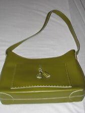 Francesco Biasia Handbag Green olive lime dark Leather Handbag Tassel Shoulder