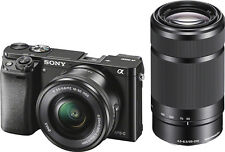 Open-Box: Sony - Alpha a6000 Mirrorless Camera with 16-50mm and 55-210mm Lens...