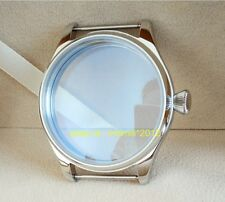 44MM 316 stainless steel pilot watch case Mineral glass Diamond shaped crown