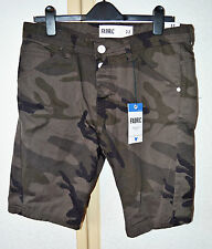 "Fabric Original Casuals Mens Brown Camouflage Pure Cotton Shorts Waist 32"" BNWT"