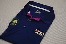 FILA POLO SHIRT FOR BNP PARIBAS TENNIS OPEN XL EXTRA LARGE BLUE INDIAN WELLS