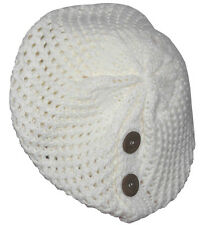 Beret With Buttons-white
