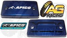 Apico Blue Front Brake Master Cylinder Cover For Suzuki RM 250 04-08 Motocross