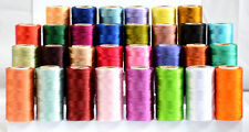 30 Assorted Rayon Silk Machine Embroidery Thread Spools Set (*Best Deal*)