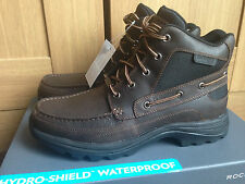 ROCKPORT FITCHBURG MEN WATERPROOF BOOTS BROWN UK 8 NEW IN BOX