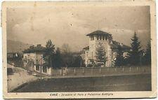 1923 Ciriè - Stradale di Nole e Palazzina Bottiglia FP B/N VG