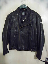 VINTAGE 70'S HARRO LEATHER MOTORCYCLE JACKET SIZE S/M NO SIZE LABEL