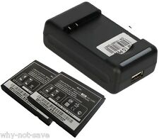 2x Battery and Wall usb home Charger for LG Thrill P925 Optimus 3D P920 FL-53HN