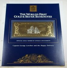 1981 Antigua & Barbuda $100 Gold/Silver Note-Capt. George Lowther/Happy Delivery