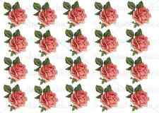 FURNITURE DECAL DIY SHABBY CHIC IMAGE TRANSFER VINTAGE VALENTINES PINK ROSES RED