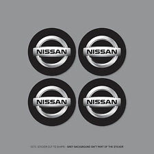 SKU2174 - 4 x Nissan Alloy Wheel Centre Cap Stickers Badges Car - 65mm