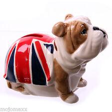 New Decorative British Bulldog Union Jack Ceramic Money Box Home Novelty Gift