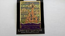 DLR Cast Exclusive Pin of the Month Disneyland Paris Castle Stained glass LE500