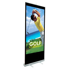 "Retractable Roll Up Banner Stand (33"" W x 79"" H) Stand Only For Trade Shows"