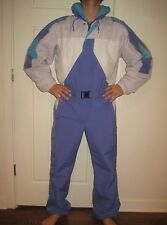 Vtg 80s Colorblock OBERMEYER Mens LARGE Onesie SKI BIB Snow Suit Coat Snowsuit L