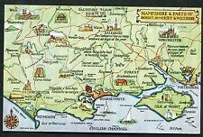 C1950's Pictorial Map of Hampshire