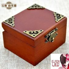 Vintage Square Wind Up Music Box : ELFEN LIED -LILIUM