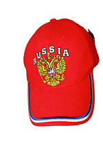 RUSSIA RED DOUBLE-HEADED EAGLE  EMBOSSED HAT CAP .. NEW