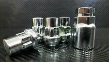 LOCKING LUG NUTS WHEEL LOCKS | CHROME BULGE ACORN | 1/2-20 | CLOSED END FOR JEEP