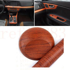 Car Interior Wood Grain Texture Vinyl Wrap Sticker Decal Rosewood Brown 60x120CM
