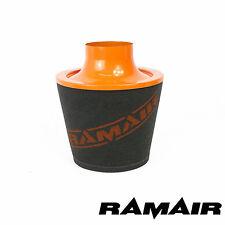Ramair de aluminio de gran alto flujo de aire de espuma de Filtro de 80 mm OD cuello en color naranja