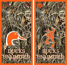 Camo Ducks & Bucks Unlimited Wildlife Cornhole Game Board 3M Vinyl Decal Set