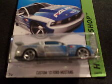 HW HOT WHEELS 2015 HW WORKSHOP #240/250 CUSTOM 12 FORD MUSTANG SILVER HOTWHEELS