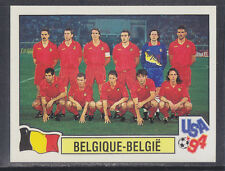 Panini - USA 94 World Cup - # 369 Belgique Team Group (Green Back)