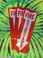 "(LOT OF 3) SELF-ADHESIVE VINYL ""FIRE EXTINGUISHER ARROW"" SIGN'S...4"" X 12"" NEW"