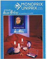 PUBLICITE ADVERTISING 114 1972 MONOPRIX UNIPRIX Miss Helen maquillage